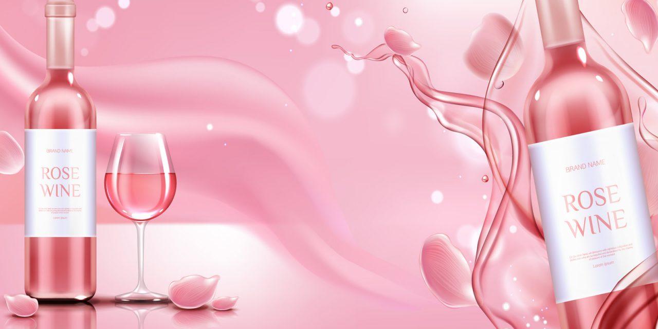 Różowe wino musujące