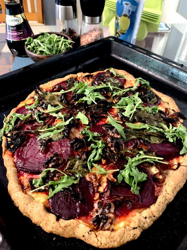 pizza z burakami